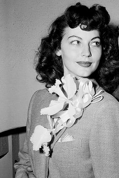 Ava Gardner on the day of her wedding to Artie Shaw, 1945.
