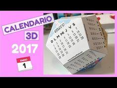 CALENDARIO 3D (Plantilla gratis!) - YouTube