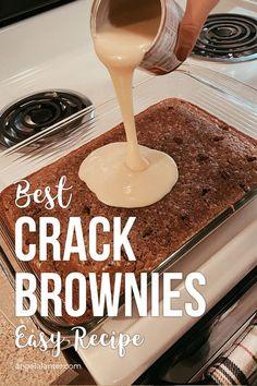 Best Crack Brownies - Easy Recipe for Fall. Angela Lanter desserts cupcakes Best Crack Brownies - Easy Recipe for Fall Crack Brownies, Boxed Brownies, Cupcake Brownies, Easy Brownies, Turtle Brownies, Beste Brownies, Fall Recipes, Sweet Recipes, Recipes Dinner