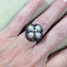 Crazy For Pearls Ring