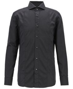 Camisa De Vestir Negra Hombre - Camisas de Vestir Manga Larga para ... f5e8b05411fd4