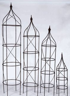5 Sizes - Wrought Iron Rose Topiary Trellis Plant Support