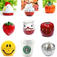 Creative Plastic Mechanical Kitchen Cooking Alarm Timer Reminder 60 Minute Tools | eBay