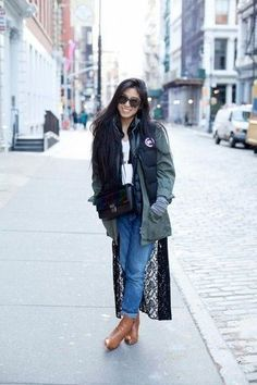kristenglam free stylin' in the Canada Goose Freestlye Vest. New York Fashion, Runway Fashion, Womens Fashion, Fashion Trends, Milan Fashion, Teen Fashion, Fall Fashion, Canada Goose Parka, Winter Outfits For Work
