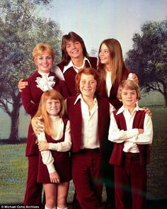 Cassidy is widely known for his starring role as Keith Partridge (center, back) on the 1970s series The Partridge Family