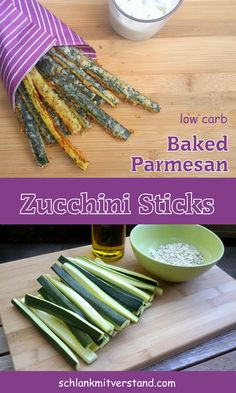 Zucchini Sticks low carb