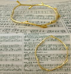Twig Bangle Bracelet 14k Gold Vermeil $120.00