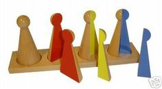 wooden toy -- teaches concept of fractions, too