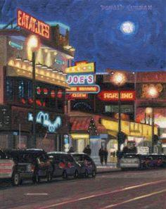 "Daily+Paintworks+-+""San+Francisco+Night+Scene""+-+Original+Fine+Art+for+Sale+-+©+Donald+Curran"