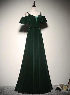 Straps Prom Dresses, Grad Dresses, Ball Dresses, Ball Gowns, Bridesmaid Dresses, Formal Dresses, Slytherin, Hogwarts, Pretty Dresses