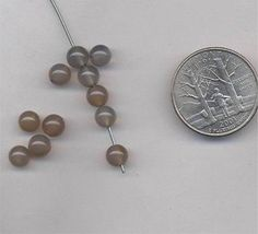 24 VINTAGE GENUINE CALCEDON 8mm ROUND SMOOTH BEADS