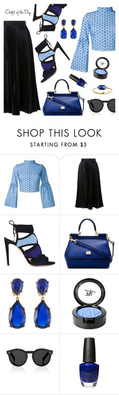 """Outfit of the Day"" by dressedbyrose ❤ liked on Polyvore featuring Daizy Shely, Christopher Kane, Aquazzura, Dolce&Gabbana, Kenneth Jay Lane, Beauty Is Life, Illesteva, OPI, Ringly and Petit Bateau"