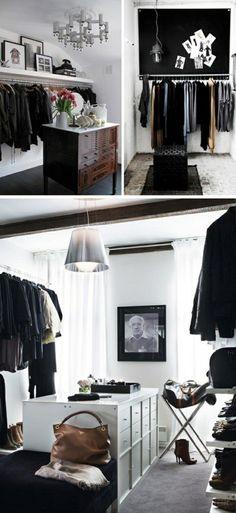 kommode  monochromatisch ankleidezimmer kleiderschiene