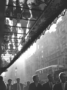 Spain. Gran Via, Madrid, 1952  // By Francesc Catala-Roca