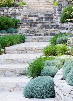 We love these garden steps! Tips On Gardening: The Advantage Of Pendant Lighting To The Different Areas To Your Home Love Garden, Dream Garden, Landscaping With Rocks, Garden Landscaping, Landscaping Tips, Rock Flower Beds, Landscape Design, Garden Design, Garden Stairs