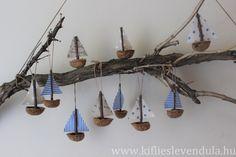 """Képtalálat a következőre: """"nyári dekoráció"""" Boat Crafts, Diy Home Crafts, Summer Crafts, Creative Crafts, Driftwood Projects, Driftwood Art, Hobbies And Crafts, Arts And Crafts, Paper Crafts"""