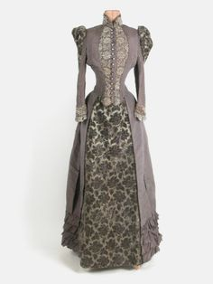 Let me repeat that: silk, steel, taffeta. Dress: 1890, silk, steel, taffeta.