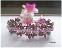 Dainty Pink Daisy Superduo Bracelet