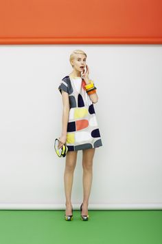 mode : Marimekko, printemps 2013, robe, motif géométriques courbes