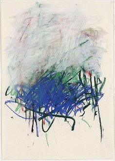 art-Walk — Joan Mitchell pastel on paper, 1992