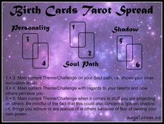 Birth Cards Tarot Spread ⋆ Angelorum - Tarot and Healing - Trend Lilie Tattoo 2019 Tarot Card Layouts, Tarot Cards For Beginners, Tarot Card Spreads, Tarot Astrology, Oracle Tarot, Tarot Card Meanings, Cartomancy, Tarot Readers, Card Reading