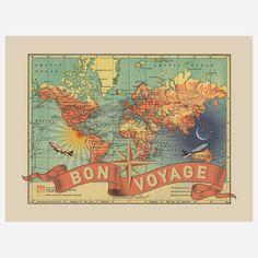 Bon Voyage Map by ImagineNations