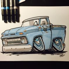 1966 Chevy Truck, Classic Chevy Trucks, Chevy C10, Chevrolet, Cool Trucks, Cool Cars, Chevy Tattoo, Gas Mask Art, Cool Car Drawings