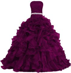ANTS Women's Pretty Ball Gown Quinceanera Dress Ruffle Prom Dresses: Amazon Fashion