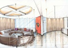 Interior Design Office Sketches great deli / restauant rendering sketch | < design visualization