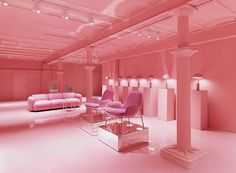 Pink Big: the Normann Copenhagen Showroom at Østerbrogade 70 is a gargantuan voyage of incredible design discovery. Colour Architecture, Interior Architecture, Design Blog, Store Design, Design Ideas, Wallpapers Rosa, Pretty In Pink, Tout Rose, Deco Rose
