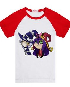 LOL Veigar and Lulu cartoon tshirt League of Legends cute tee for boys-