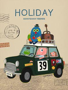 2015 GOOLYGOOLY CALENDAR ART BOOK limited edition/500 http://society6.com/goolygooly