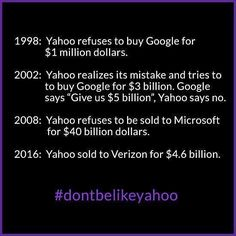 #dontbelikeyahoo #makesmartchoices #decissions #yahoo