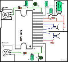 Dibujo del amplificador con TDA1557Q