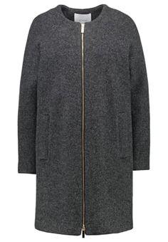 Wollmantel / klassischer Mantel - dark grey