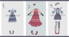 [Auction][CLOSED]+Outfit+Batch+5+by+hito-chan19.deviantart.com+on+@DeviantArt