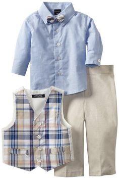 Nautica Dress Up Baby-boys Infant Gustav Plaid Vest Set, Khaki, 18 Months NAUTICA,http://www.amazon.com/dp/B008X32F0O/ref=cm_sw_r_pi_dp_GiGktb0T5G27VNJ2