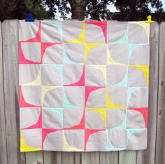 Gorgeous quilt top by KelbySews.  If you sew at all, be sure to click through and look at the seams in this thing...insane.