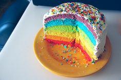 Yummy! Tartas de colores para los lunes por la mañana :) #pasteles #dulces #rainbow #arcoiris