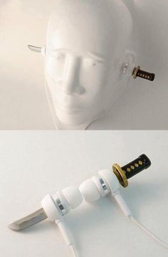 Samurai sword #earphone #gadget