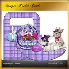Easter Basket Rocker Stepper Card Treat Bag Duo on Craftsuprint - View Now!