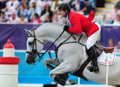 Mclain Ward of the United States riding Antares competes in the 3rd Qualifier of Individual Jumping on Day 10 of the London 2012 Olympic Games at Greenwich Park on August 6, 2012 in London, England.