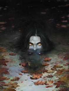 Nokke I n Demon art Dark Fantasy Art, Fantasy Kunst, Arte Horror, Horror Art, Art Sinistre, Creepy Art, Art Inspo, Creepers, Character Art
