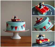 Little Mole and Car Cake by deLucious Cupcake Cakes, Cupcakes, Mole, Fondant, Decoration, Birthday, Car, Party, Automobile