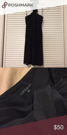 Black theory dress with pockets