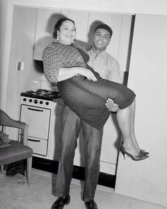Muhammad Ali with his mom