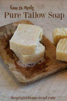 How to Make Pure Tallow Soapmade in crockpot: Link to another crockpot soap recipe explains the Zap Test or how to test for traces of lye!