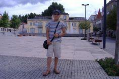 O André numa praça de Chaves 2009