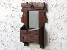 A rustic traditional ornate wall mirror with decorative etched detailing and a small storage space accessed through a cute door. Shabby Chic Mirror, Rustic Mirrors, Vintage Mirrors, Rustic Walls, Wall Stickers Baby Boy, Vintage Girls Rooms, Wall Mirrors With Storage, Hallway Inspiration, Dining Room Wall Decor