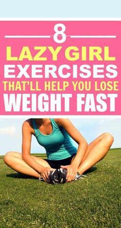 These 8 Lazy Girl Exercises that every girl should know are THE BEST! I'm so glad I found these AMAZING work out routines! Now I have a great way to get in shape and get tone for summer! Definitely pinning!